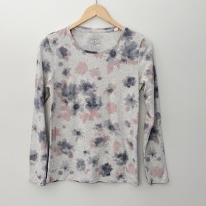 2 for $20 Sonoma long sleeve tshirt gray floral
